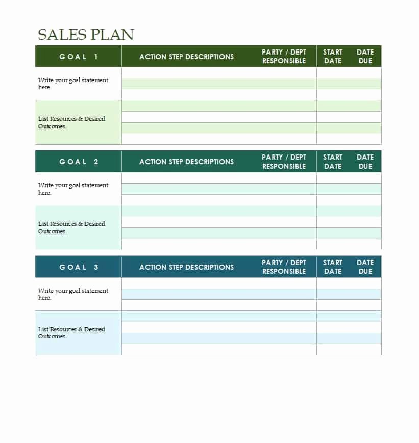 32 Sales Plan & Sales Strategy Templates [word & Excel]