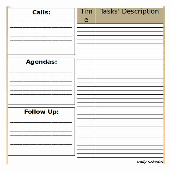 32 Schedule Templates – Word