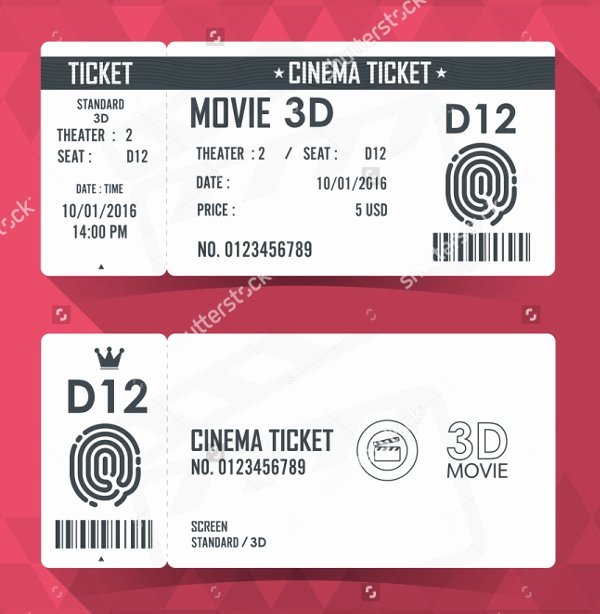 32 Ticket Templates Psd Ai Word
