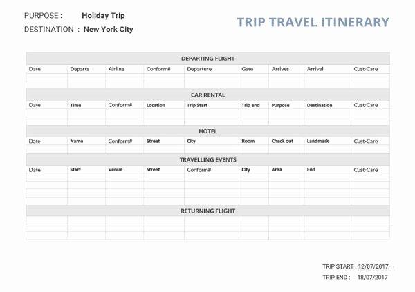 32 Travel Itinerary Templates Doc Pdf