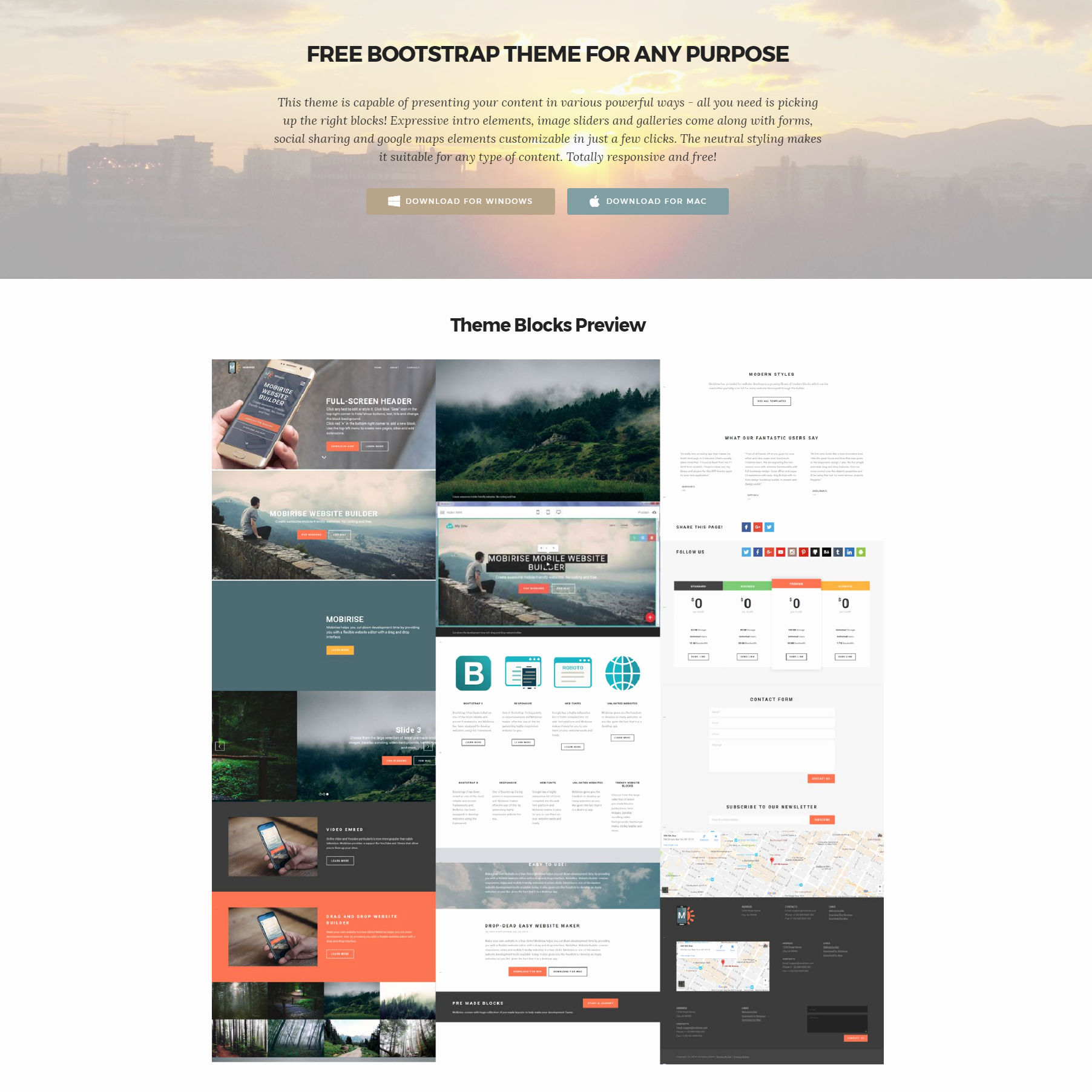 33 Awesome Free HTML5 Bootstrap Templates 2018