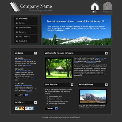 33 Best Free Css Web Templates for Web Designers