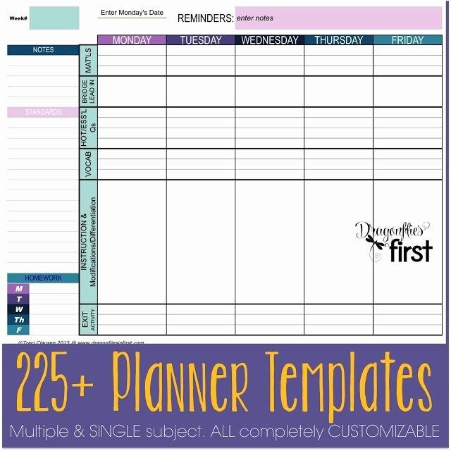 33 Best Homeschool Lesson Plan Template Excel