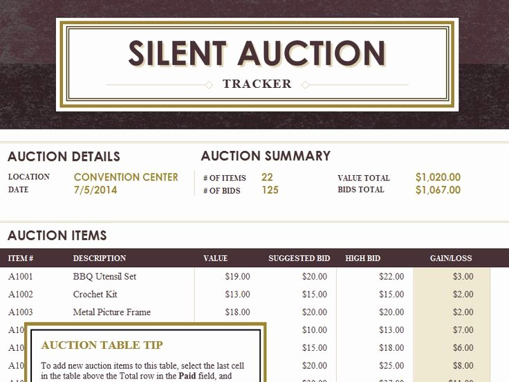 33 Best Images About Silent Auction On Pinterest