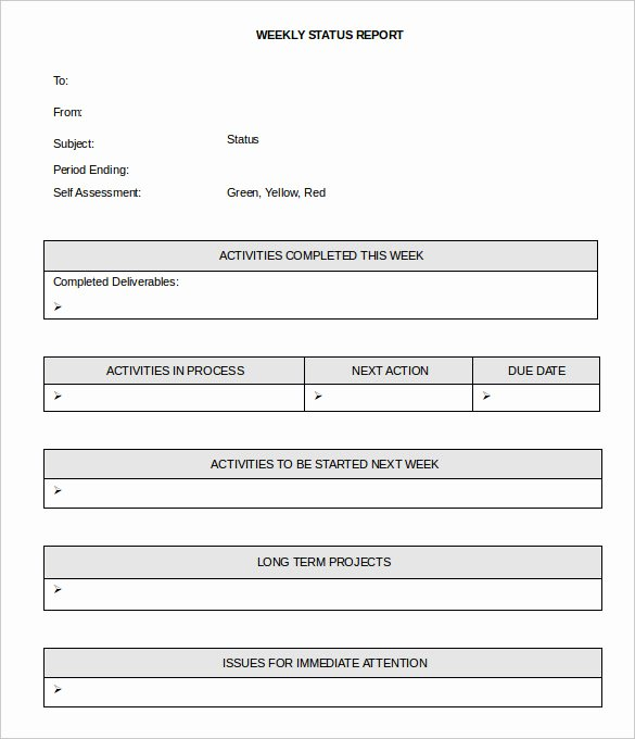 33 Weekly Activity Report Templates Pdf Doc