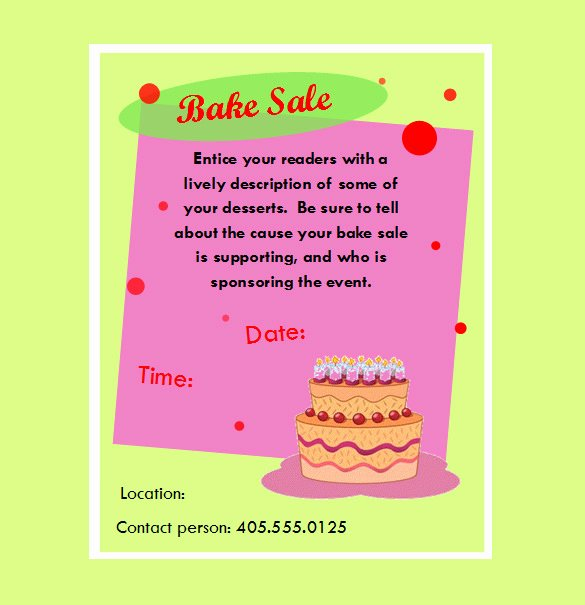 34 Bake Sale Flyer Templates Free Psd Indesign Ai