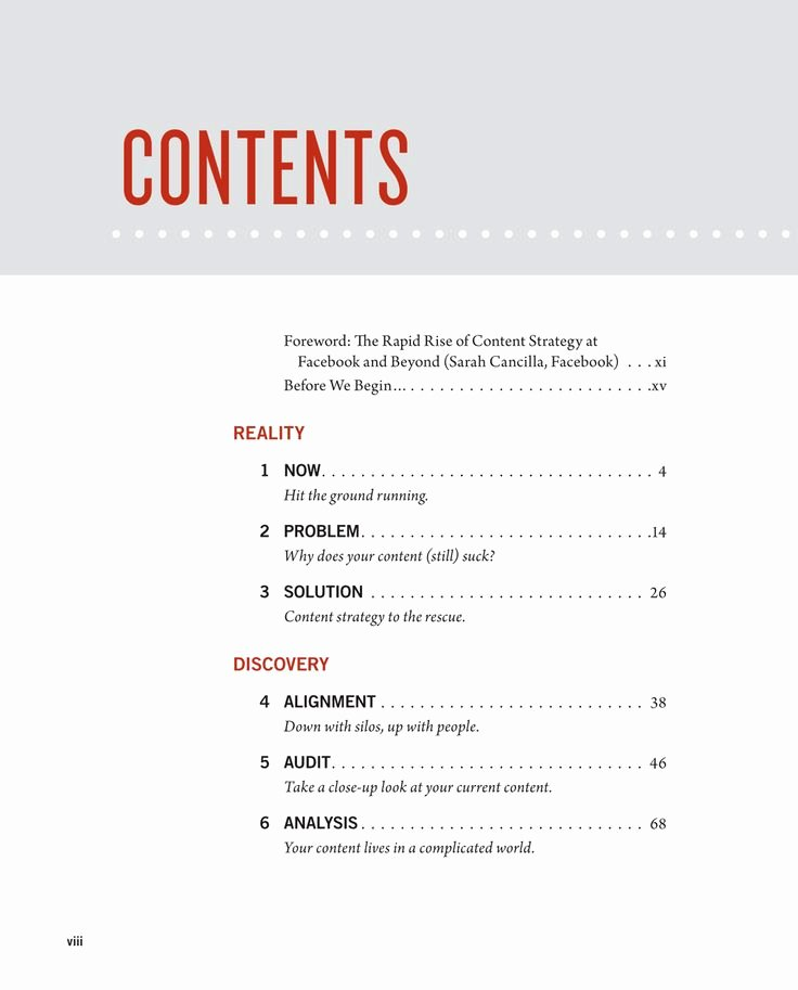 34 Best Images About Table Contents On Pinterest