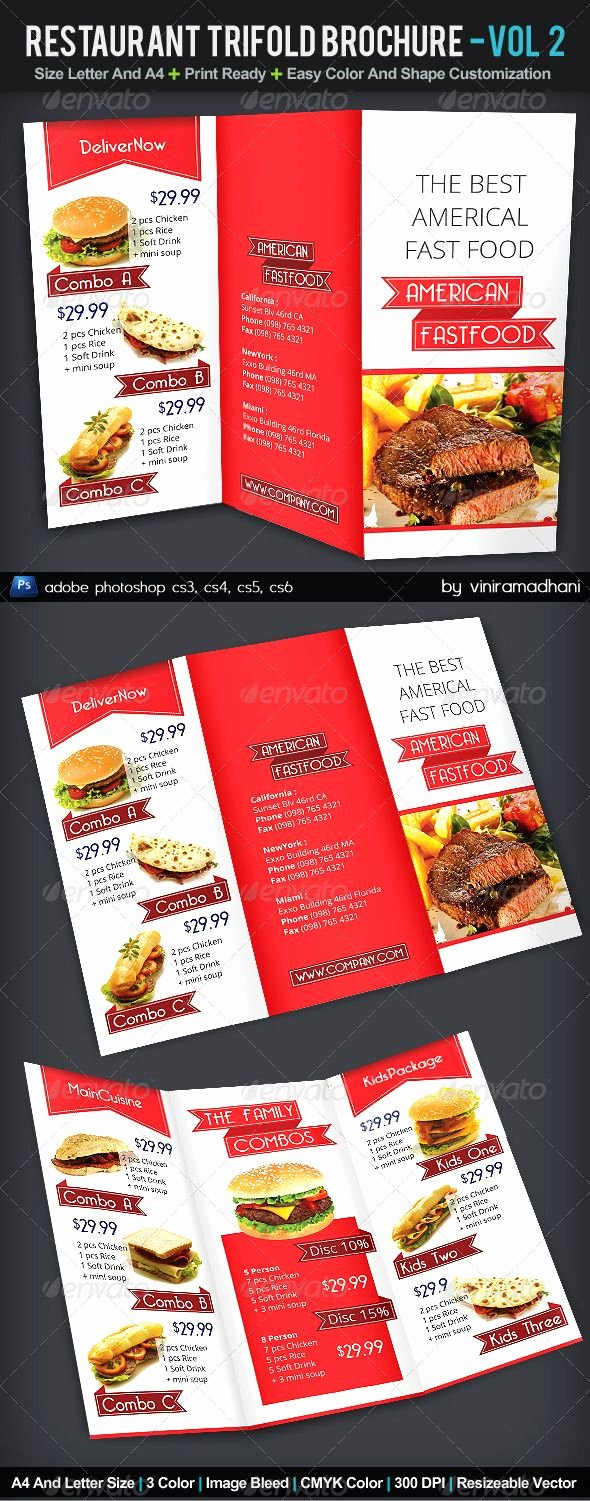 34 Best Images About Tri Fold Menu On Pinterest