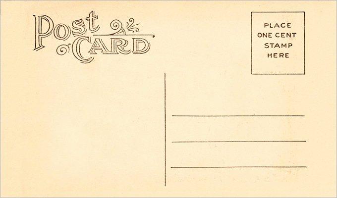 34 Blank Postcard Templates Psd Vector Eps Ai