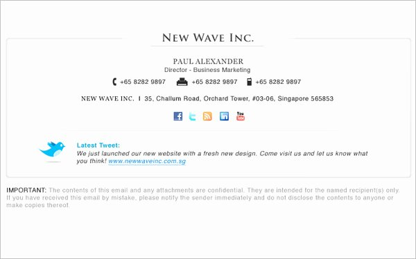 34 Email Signature Designs & Templates Psd Eps