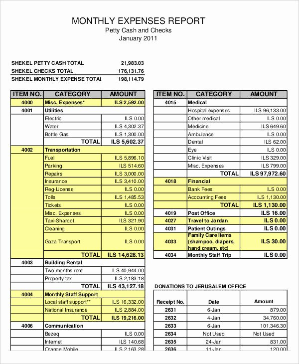 34 Expense Report Templates Word Pdf Excel
