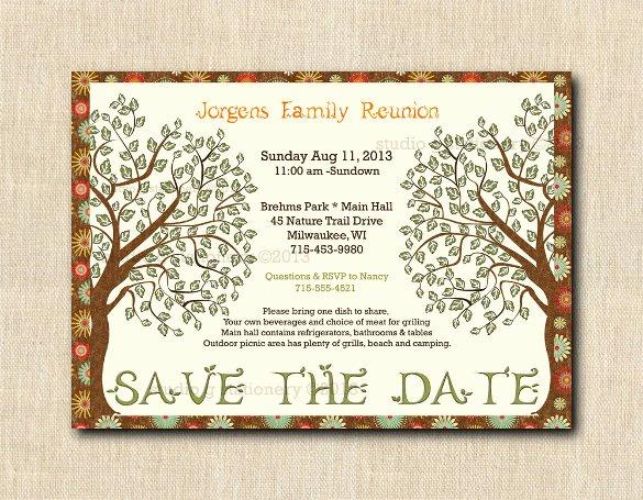 34 Family Reunion Invitation Template Free Psd Vector