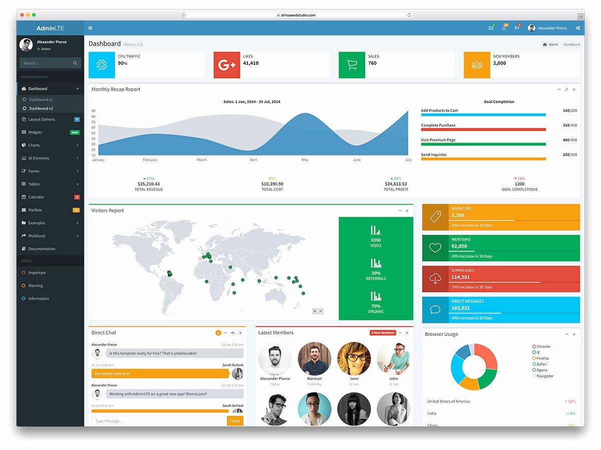 34 Free Bootstrap Admin Dashboard Templates 2018 Colorlib