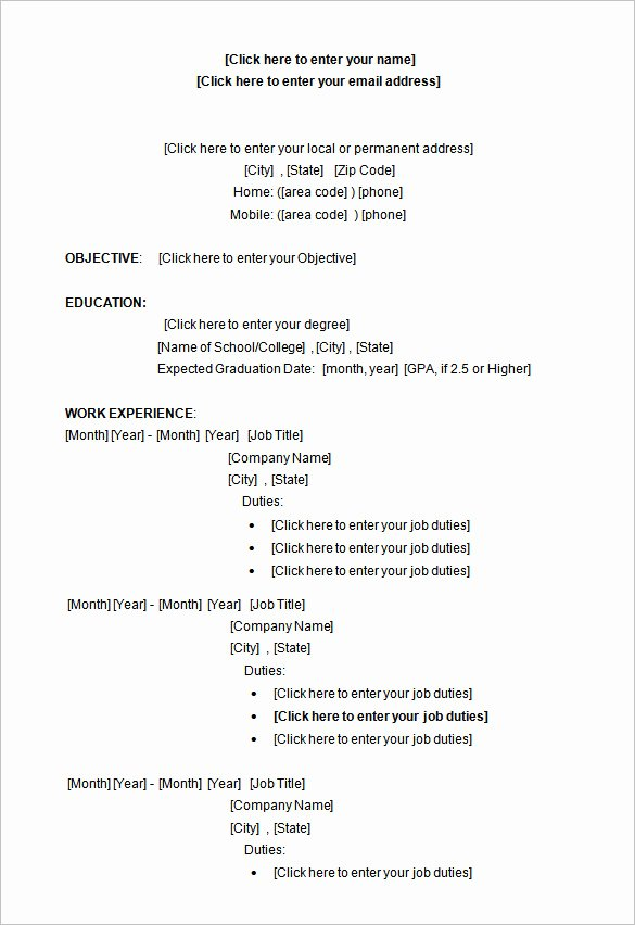 34 Microsoft Resume Templates Doc Pdf