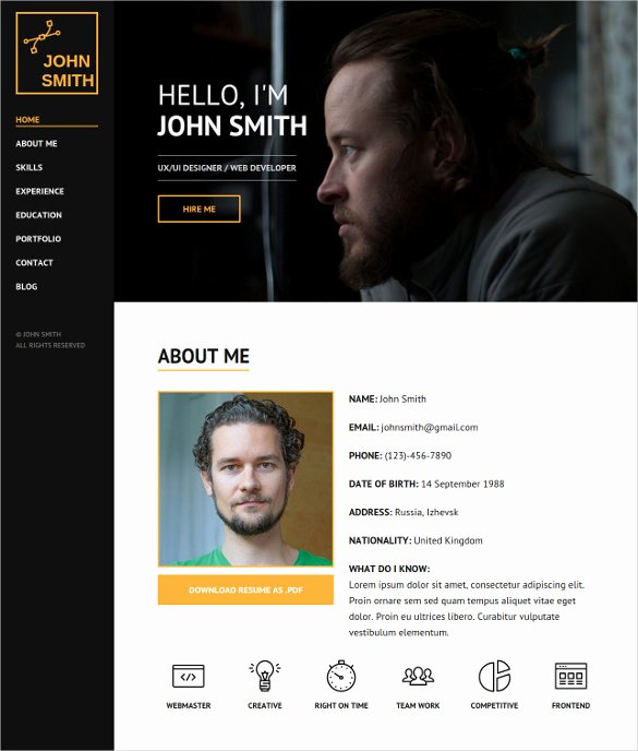 34 Personal Website themes & Templates