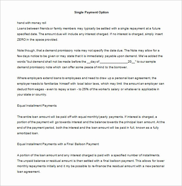 34 Promissory Note Templates Doc Pdf