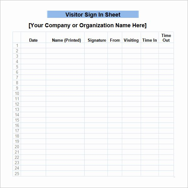 34 Sample Sign In Sheet Templates – Pdf Word Apple
