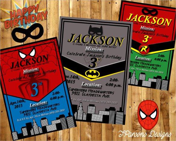 34 Superhero Birthday Invitation Templates – Free Sample