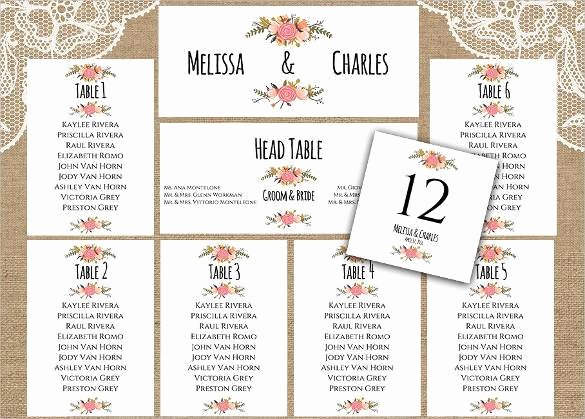 34 Wedding Seating Chart Templates Pdf Doc