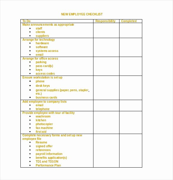 34 Word Checklist Templates