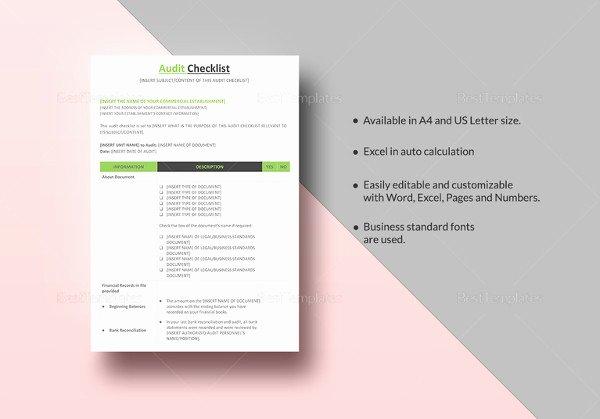 34 Word Checklist Templates
