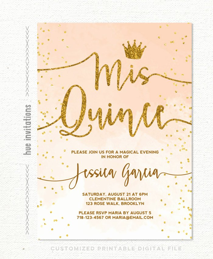 35 Beautiful and Unique Quinceanera Invitations Templates