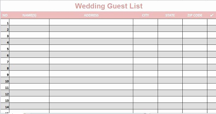 35 Beautiful Wedding Guest List & Itinerary Templates