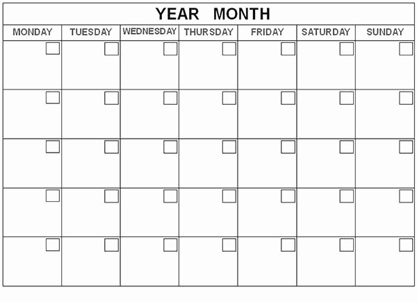 35 Best 2015 Monthly Calendar Templates for Download