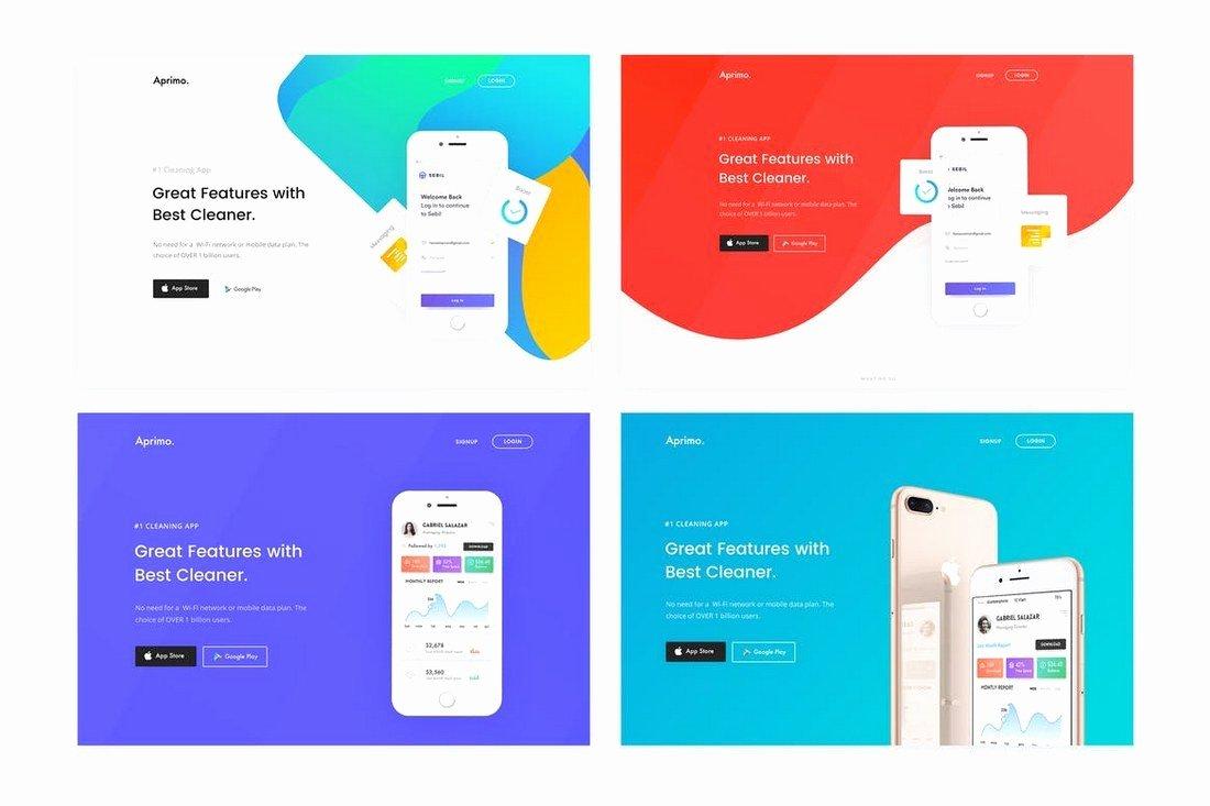best app landing page templates