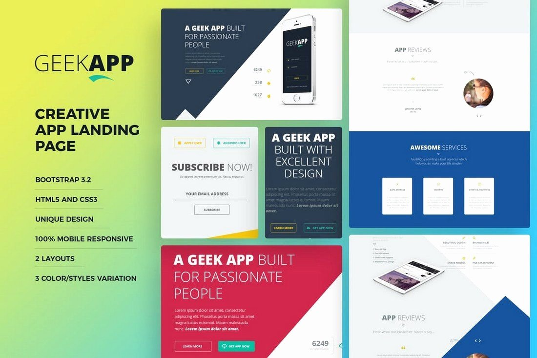 35 Best App Landing Page Templates 2019