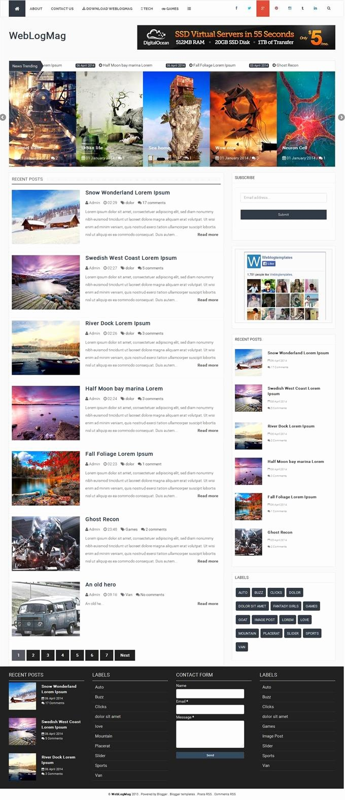35 Best Free Responsive Blogger Templates 2015 Techclient
