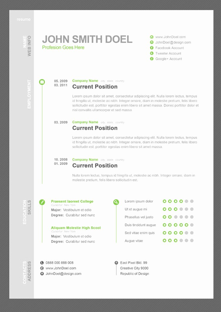 35 Best Free Resume Design Templates