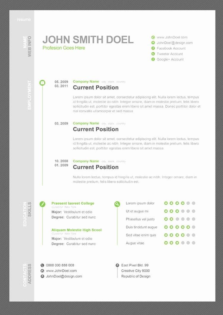 35 Best Free Resume Design Templates