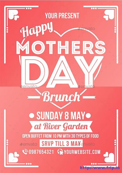 35 Best Mother's Day Flyer Print Templates 2018