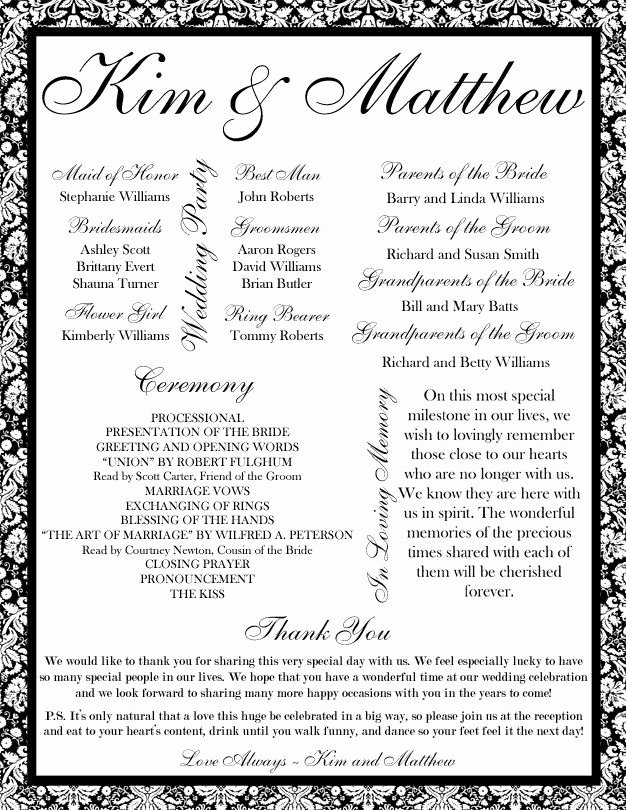 35 Best Printable Wedding Programs Images On Pinterest