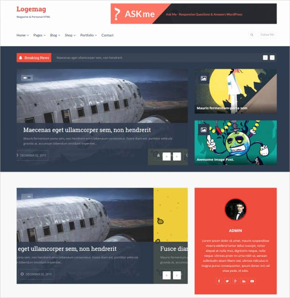 35 Bootstrap Blog themes & Templates
