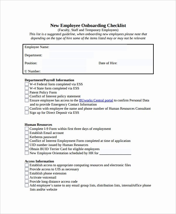 35 Checklist Templates Free Sample Example format