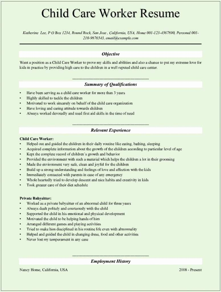35 Excellent Child Care Provider Skills for Resume We