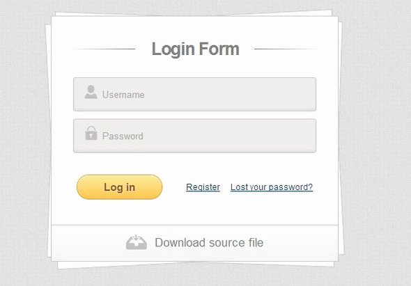 css login form templates