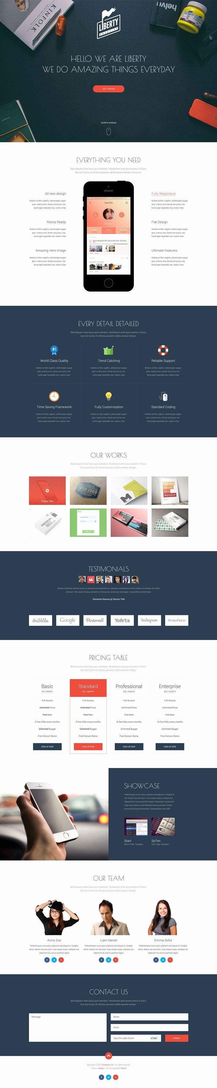 35 Free Single Page Website Template Psd Creativecrunk