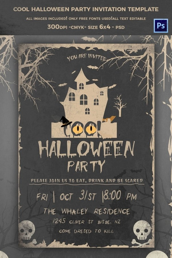 35 Halloween Invitation Free Psd Vector Eps Ai