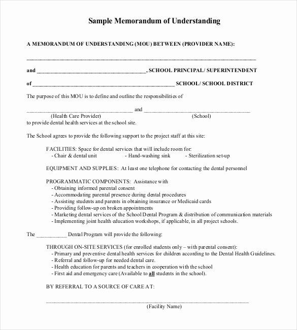 35 Memorandum Of Understanding Templates Pdf Doc
