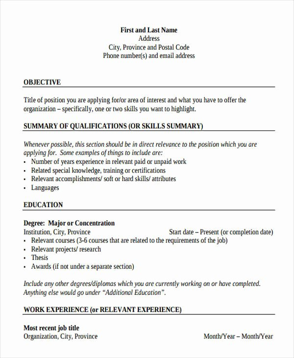 35 Resume Templates Pdf Doc