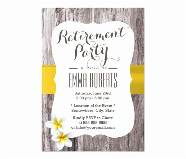 35 Retirement Party Invitation Templates Psd Ai Word