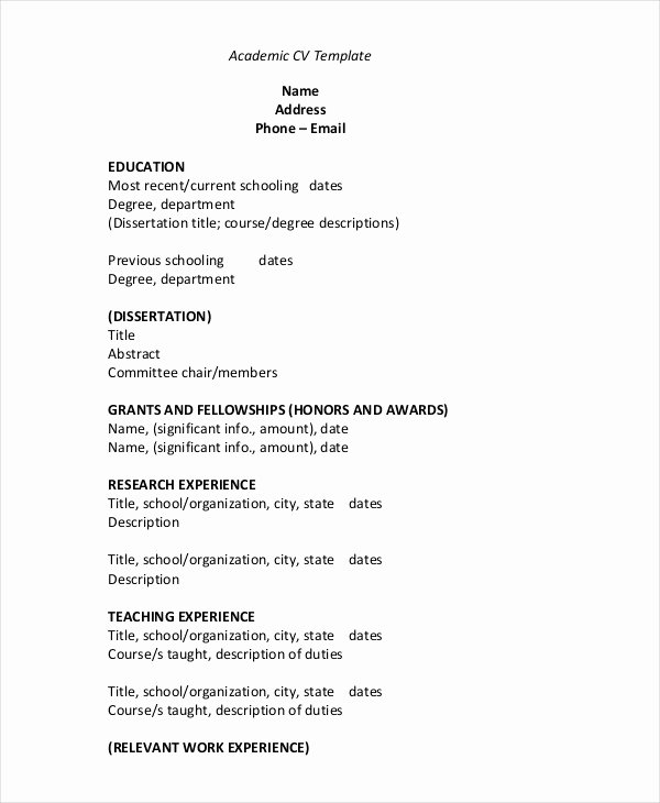 35 Sample Cv Templates Pdf Doc