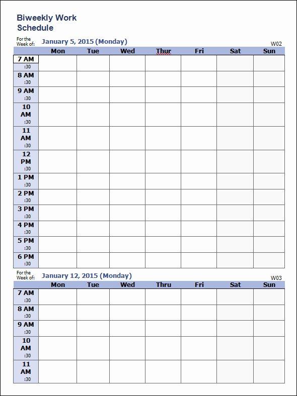 35 Sample Weekly Schedule Templates