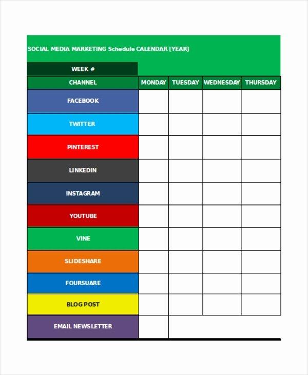 35 Schedule Templates