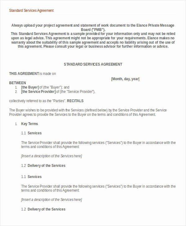 35 Service Agreement Templates Free Word Doc Pdf formats