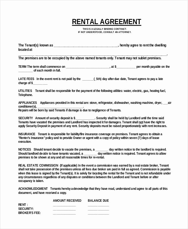 35 Simple Rental Agreement Templates Pdf Word