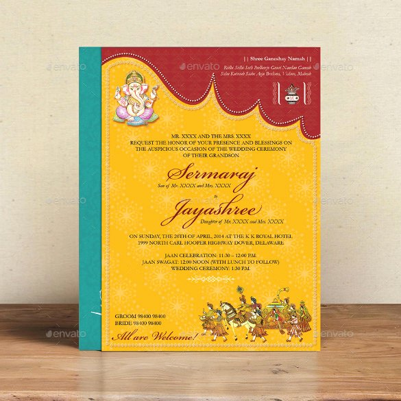 35 Traditional Wedding Invitations Psd